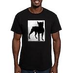 Boston Terrier Silhouette Men's Fitted T-Shirt (da