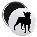 Boston Terrier Silhouette Magnet