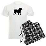 Bulldog Silhouette Men's Light Pajamas