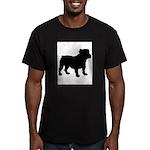 Bulldog Silhouette Men's Fitted T-Shirt (dark)
