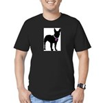 Bullterrier Breast Cancer Sup Men's Fitted T-Shirt