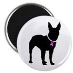 Bullterrier Breast Cancer Sup Magnet