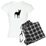 Bullterrier Silhouette Women's Light Pajamas