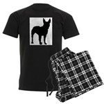 Bullterrier Silhouette Men's Dark Pajamas