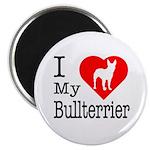 I Love My Bullterrier Magnet