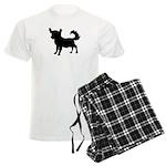 Chihuahua Silhouette Men's Light Pajamas