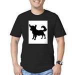 Chihuahua Silhouette Men's Fitted T-Shirt (dark)
