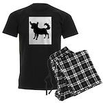 Chihuahua Silhouette Men's Dark Pajamas