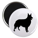 Collie Silhouette Magnet