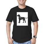 Dalmation Silhouette Men's Fitted T-Shirt (dark)