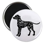 Dalmation Silhouette Magnet