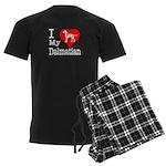 I Love My Dalmatian Men's Dark Pajamas