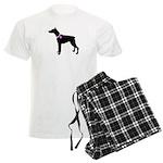 Doberman Pinscher Breast Canc Men's Light Pajamas
