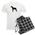 Doberman Pinscher Silhouette Men's Light Pajamas