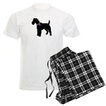 Fox Terrier Breast Cancer Sup Men's Light Pajamas