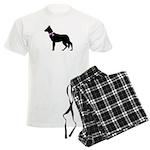 German Shepherd Breast Cancer Men's Light Pajamas