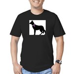 German Shepherd Breast Cancer Men's Fitted T-Shirt