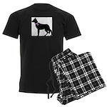 German Shepherd Breast Cancer Men's Dark Pajamas