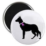 German Shepherd Breast Cancer Magnet