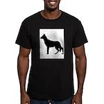 German Shepherd Silhouette Men's Fitted T-Shirt (d