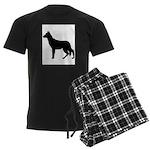 German Shepherd Silhouette Men's Dark Pajamas