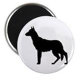 German Shepherd Silhouette Magnet