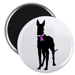 Great Dane Breast Cancer Supp Magnet