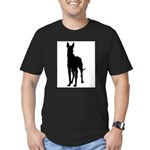 Great Dane Silhouette Men's Fitted T-Shirt (dark)