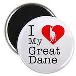I Love My Great Dane Magnet