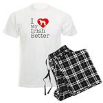 I Love My Irish Setter Men's Light Pajamas