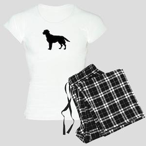 Labrador Retriever Silhouette Women's Light Pajama