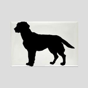 Labrador Retriever Silhouette Rectangle Magnet