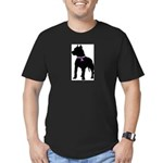 Pitbull Terrier Breast Cancer Men's Fitted T-Shirt