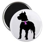 Pitbull Terrier Breast Cancer Magnet