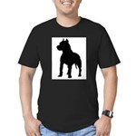Pit Bull Terrier Silho Men's Fitted T-Shirt (dark)
