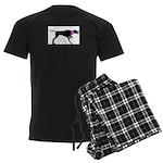 Pointer Breast Cancer Support Men's Dark Pajamas