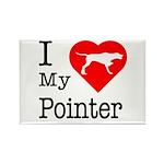 I Love My Pointer Rectangle Magnet