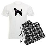 Poodle Breast Cancer Support Men's Light Pajamas