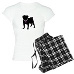 Pug Breast Cancer Support Women's Light Pajamas