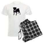 Pug Breast Cancer Support Men's Light Pajamas
