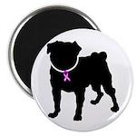 Pug Breast Cancer Support Magnet