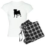 Pug Silhouette Women's Light Pajamas