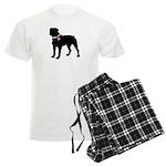 Rottweiler Breast Cancer Supp Men's Light Pajamas