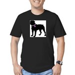 Rottweiler Breast Cancer Supp Men's Fitted T-Shirt