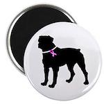 Rottweiler Breast Cancer Supp Magnet