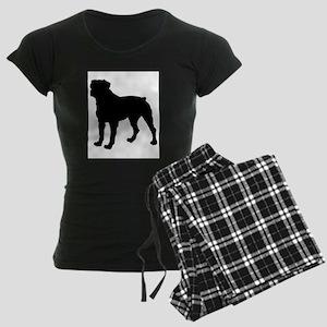 Rottweiler Silhouette Women's Dark Pajamas