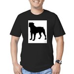 Rottweiler Silhouette Men's Fitted T-Shirt (dark)