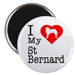 I Love My Saint Bernard Magnet