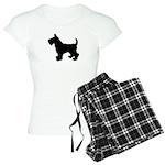 Scottish Terrier Silhouette Women's Light Pajamas