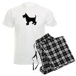 Scottish Terrier Silhouette Men's Light Pajamas